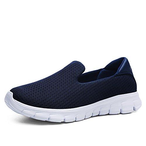 Mocassino Da Donna Enllerviid Slip-on Easy Shoes Da Passeggio Sneaker Da Ginnastica Casual Mocassino Comfort 3905 Blu Scuro