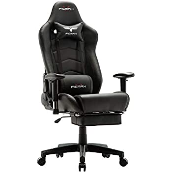 Ficmax Ergonomic Gaming Chair Racing Style Office Chair Recliner Computer Chair PU Leather High-Back E-Sports Chair Height Adjustable Gaming Office Desk ...