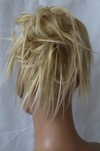 PRETTYSHOP Hairpiece Hair Rubber Scrunchie Scrunchy Updos VOLUMINOUS Wavy Messy Bun light blonde mix #15H613A G22F