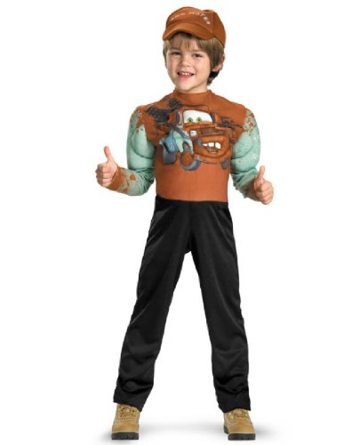 Tow Mater Classic Muscle Costume - Extra Small (3T-4T) (Tow Mater Halloween Costume)