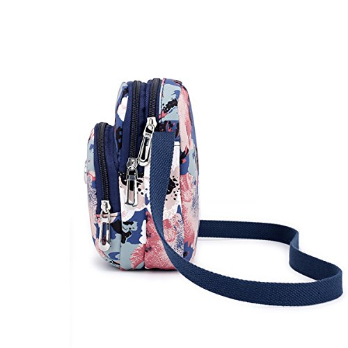 Shoulder Purse Women Girls Blue Messenger Bag Nawoshow Bag Small Bag Canvas for and Crossbody q7y0t