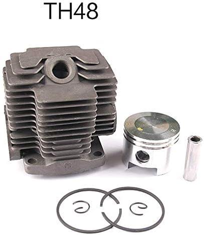 TOOGOO 44MM TH48 Kit de Cilindro para Kawasaki Kbl48 KBH48 KAAZ Recortadora Desbrozadora Cabezal Zylinder Anillos de PistóN Conjunto de Clips de Pasador: Amazon.es: Bricolaje y herramientas