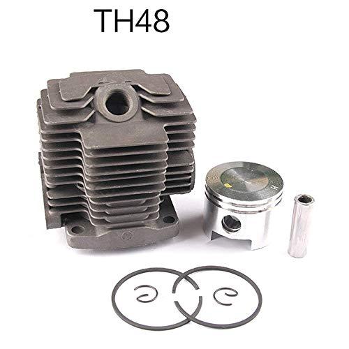 TOOGOO 44MM TH48 Kit de Cilindro para Kawasaki Kbl48 KBH48 KAAZ Recortadora Desbrozadora Cabezal Zylinder Anillos de PistóN Conjunto de Clips de ...