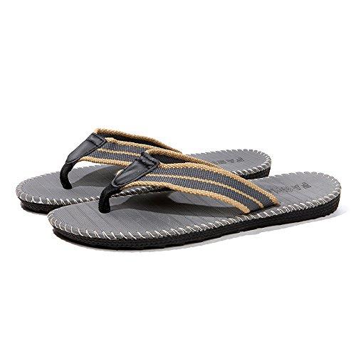Pantofole estate trend spiaggia e antiscivolo pin clip che fashion trascina home pantofole uomini outdoor DogHaccd studenti interno Grigio1 da scarpe 5txwgRqz