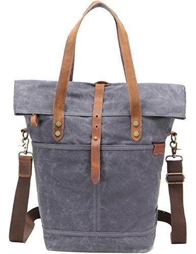 Pacchetto Messenger Impermeabile Bags Vintage Spalla Grigio Beige Canvas Casual Daypack Dell'imbracatura Menschwear Iq8tnwdw