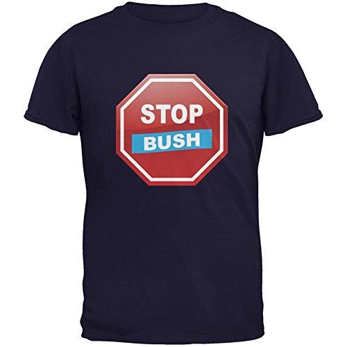 Election 2016 Stop Bush Navy Adult T-Shirt - X-Large (Stop Bush T-shirt)