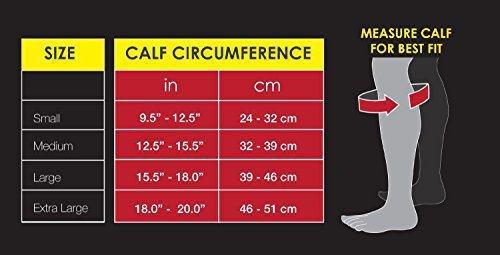 Gabor Fitness Graduated 20-25mm Hg Compression Running Leg Sleeves, Small, Black