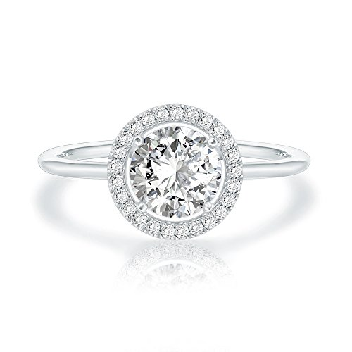 Swarovski Crystal 14K White Gold Plated Birthstone Rings | White Gold Rings for Women | Diamond Ring ()