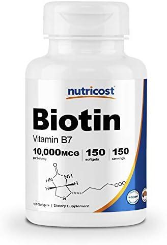 Nutricost Biotin Organic Coconut Softgels product image