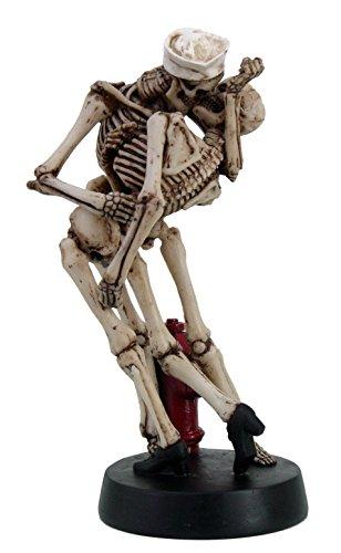Love Never Dies Skeleton Skull Sailor and American Nurse Kissing Statue Figurine