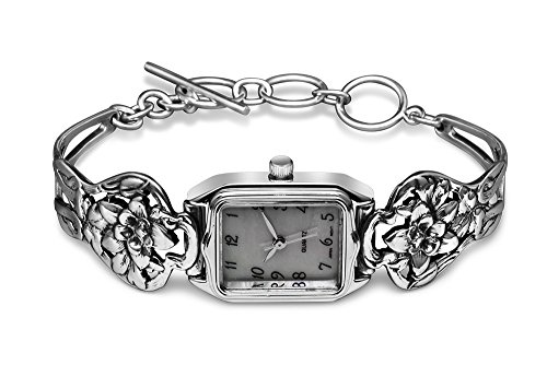 Silver Spoon Rare Mother of Pearl Unique Watch Narcissus Flower (Silver Spoon Watch compare prices)