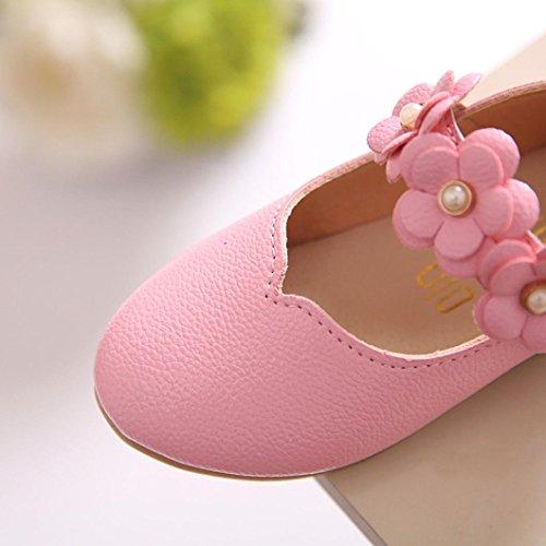 Tefamore Zapatos Bebe Casuales De la Flor del Moda Sólido Todo el Partido Fiesta Princesa de Baile Niños Chicas Rosa