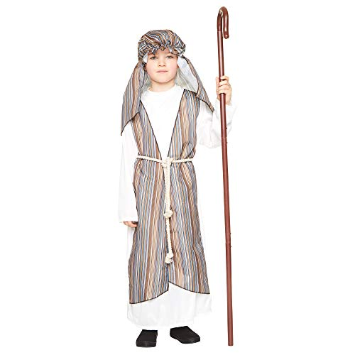 Karnival Costumes Shepherd Boy Costume - Christmas Kids Nativity Biblical Outfit, M