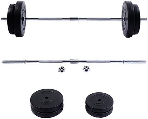 Nueva 66 Lb Set gimnasio ejercicio de levantamiento de peso (Barbell Curl Bar entrenamiento