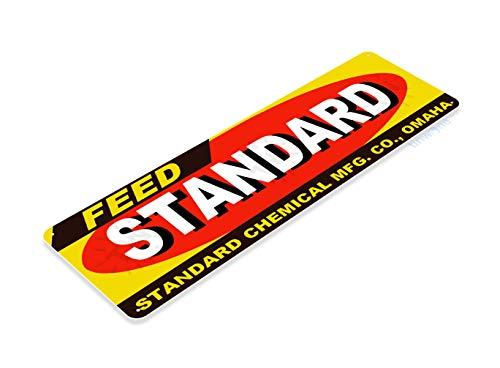 Tin Feed Sign Store (Tinworld Tin Sign Standard Feed Retro Farm Barn Store Metal Sign Decor Kitchen Cottage B528)