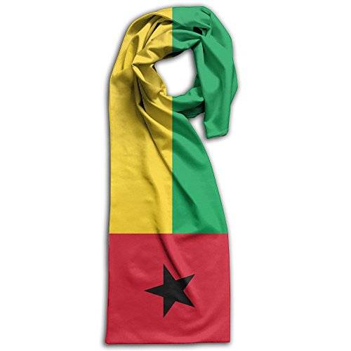 Unisex Flag Of Guinea-Bissau Plain Knitted Warm Winter Outdoor Scarf For Adults