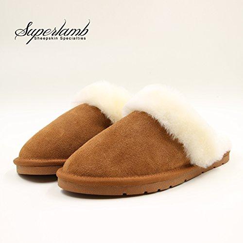 Sheepskin Scuff Slipper (SMALL(5-6), CHESTNUT)