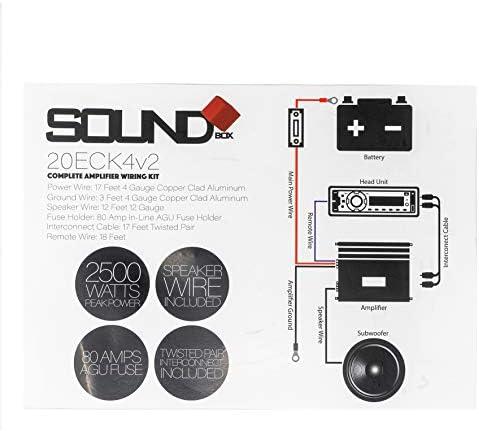 SoundField ECK4v2, 4 Gauge Amp Kit - Complete Amplifier Install Wiring - 2500W