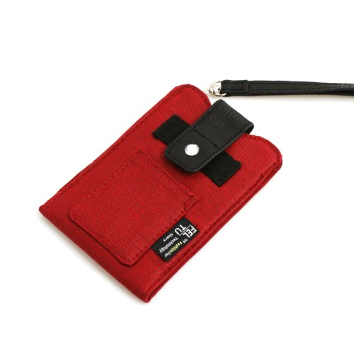System-S Custodia in tessuto rosso custodia case Sleeve per Apple Iphone 3G 3GS 4iPod Touch