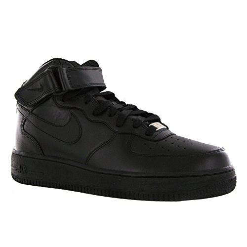Nike Kids Air Force 1 Mid (GS) Black/Black Basketball Shoe 6 Kids US