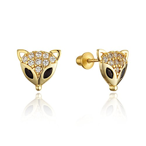 Plated Zirconia Screwback Earrings Sterling product image