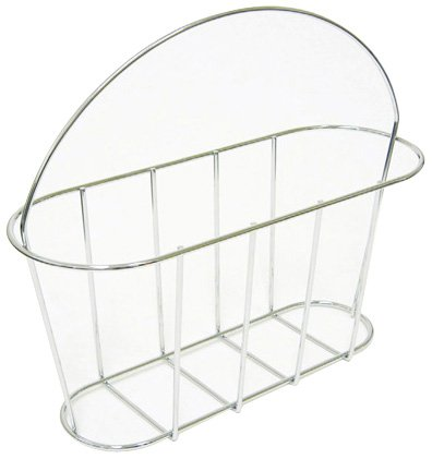 Taymor Chrome Floor Magazine Rack with Handle 02-DAS1220