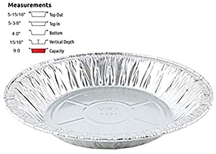 Handi-Foil 6u0026quot; Aluminum Foil Pie Pan 50/Pk - Disposable Small Baking  sc 1 st  Amazon.com & Amazon.com: Handi-Foil 6