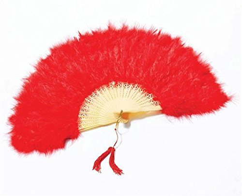 Red Feather Victorian Fan