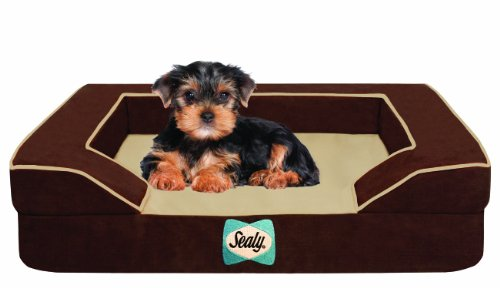 Sealy Dog Bed with Quad Layer Technology, Small, Autumn Brow