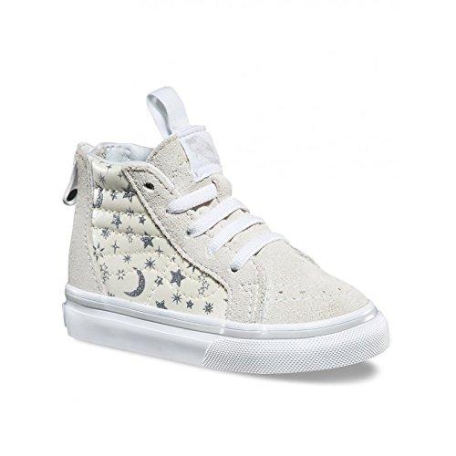 3230a4f5e7c6ce Vans Kid's Sk8-Hi Zip Shoes, Star Glitter/White (8.5 Toddler M