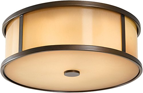 Murray Feiss Bronze Ceiling Light - Feiss OL7613HTBZ Dakota Outdoor Flush Mount Ceiling Lighting, Bronze, 3-Light (14