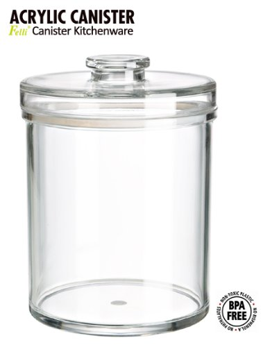 (SPA & Cosmetics storage system) Felliclassic round airtight canister. 6''x 6'' x 8''. (78oz/2.3L).Classic canister that decorate your space very well! Shatterproof, BPA Free.(U381963) by Felli-storage (Image #7)