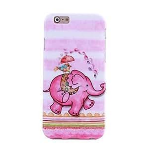 patrón elefante feliz TPU caso suave para el iphone 6
