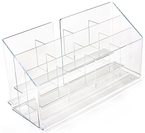 Displays2go Countertop Pamphlet Brochure Rack, 12 Tiered ...