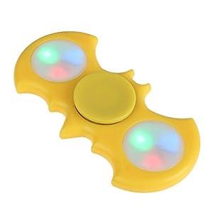 ToysOXO Fidget Toys Hand Spinner Fidget Cube Camouflage Rainbow Tri-Spinner Fidget Spinner Toy Metal Hand Spinner Flag (Yellow LED Batman) at Gotham City Store