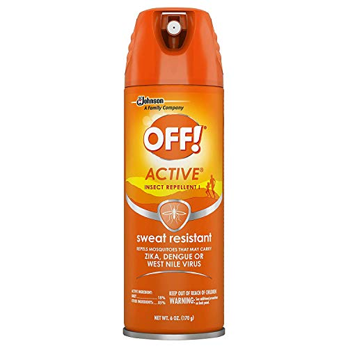 - OFF! Active Insect Repellent, Sweat Resistant 6 oz (Pack of 3)