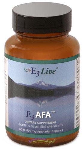 E3Live - E3 AFA Blue-Green Algae - 400 mg - 60 Capsules