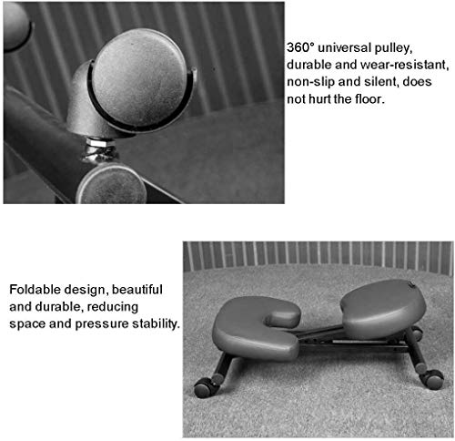 ZXL Knäpallstol, lyft vuxen midja ergonomisk knästol, kontor anti-ryggstöd, kreativ barnlärande stol, knäböjbar justerbar sits