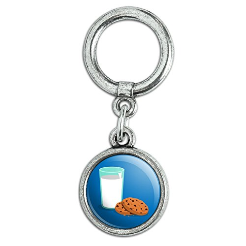 Glass Of Milk and Cookies Shoe Sneaker Shoelace Charm Decoration -