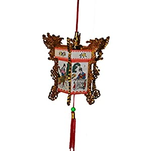 Oriental Lantern with Geishas and gold colored dragons 1543