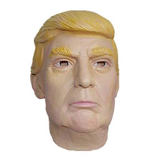 Halloween Costumes Youtube Video (Donald Trump LATEX Mask, The Most Realistic & Best Look-alike, Full-head Adult Size (White) by Jesster)