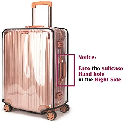 Swiky Luggage Cover 20 Inch Suitcase Cover Rolling Luggage Cover Protector Clear PVC Suitcase Cover for Carry on Luggage
