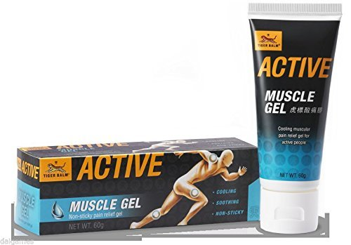 (Original TIGER BALM Active Muscle Gel,虎标ACTIVE酸痛胶,Non-Greasy,muscular Pain Relief cream 60g)