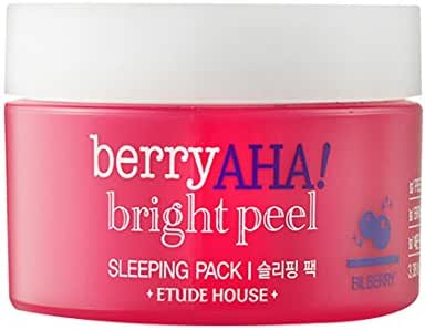 Etude House] Berry aha Bright Peel Sleeping Pack: Amazon.es: Belleza
