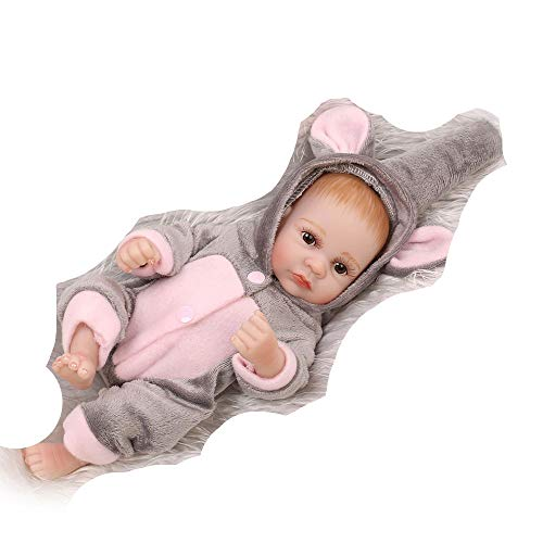 Birdfly Type:0179 Reborn Toddler Smile Baby Doll Sit Artificial Elephant Jumpsuit Girl Silicone Lifelike Toy]()