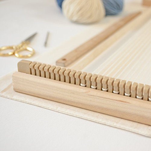 Beka 14'' FRAME LOOM WEAVING KIT / EVERYTHING YOU NEED TO MAKE YOUR OWN WOVEN WALL HANGING / GRAY