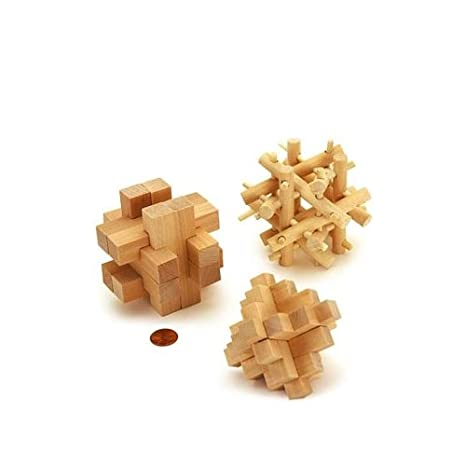 Amazon Brain Benders 3d Puzzles Solid Wood 3 Different Cardinal
