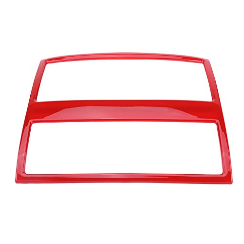 Qiilu Rear Air Conditioning Vent Outlet Frame Cover Trim for BMW 5 Series F10 F18 2011-2017(Red)
