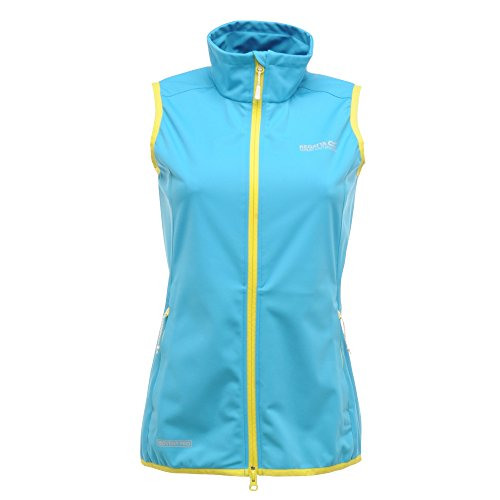 Regatta Womens/Ladies Descender Waterproof Breathable Gilet Bodywarmer Fluro Blue