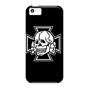 Hot Tpye Iron Cross Skull Cases Covers For Iphone 5c